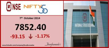 NSE National Stock Exchange Indices Performance as on 7th October 2014